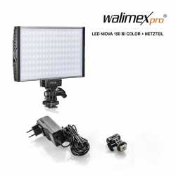 On-camera LED light - Walimex pro LED Niova 150 Bi Color + power adapter - quick order from manufacturer