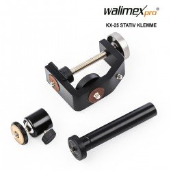 Holders - Walimex pro KX-25 Stand Clamp with ball head - quick order from manufacturer