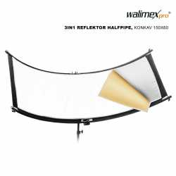 Reflector Panels - Walimex pro 3in1 Reflector Halfpipe, concave150x60 - quick order from manufacturer