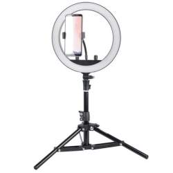 Ring Light - StudioKing SKRL10 LED dimmable LED bi-color ring light with table tripod and - buy today in store and with delivery