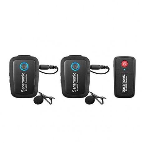 Skaņas ierakstīšana - Saramonic BLINK 500 B2 (TX+TX+RX) 2.4GHZ radio mikrofonu komplekta noma