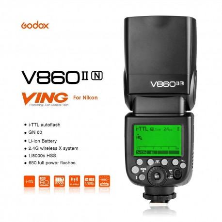 Foto zibspuldzes - Godox Ving flash V860II priekš Nikon zibspuldzes noma