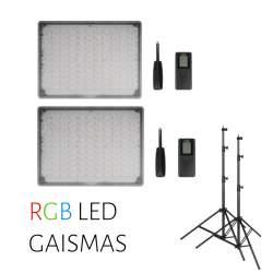 Video lights - Two Yongnuo LED Light YN-600 RGB - WB (3200 K - 5500 K) rent