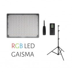 Video gaismas - Yongnuo LED Light YN-600 RGB - WB (3200 K - 5500 K) noma