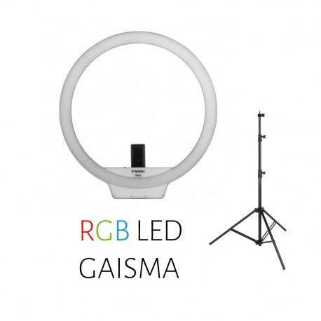 Video gaismas - Yongnuo Ring LED Light YN-608 RGB - WB (3200 K - 5500 K) noma