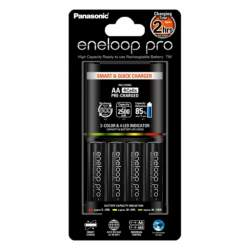 Batteries and chargers - Lādētajs ar mikroproc un eneloop AA (4.gab 2400mAh) MQR06-E-4-3UTGA - buy today in store and with delivery