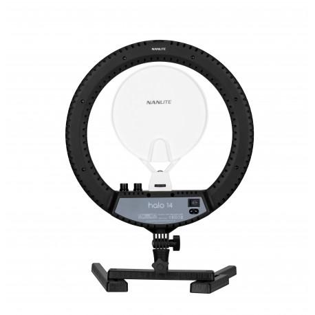 Gredzenveida LED lampas - Nanlite Halo14 LED gredzenveida dimējama bi-color lampa - 35cm / 24W / 2700K-6500K - perc šodien veikalā un ar piegādi