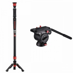 Monopods - iFootage Cobra 2 Strike A150S II with Komodo K5 Fluid Head Bundle - quick order from manufacturer