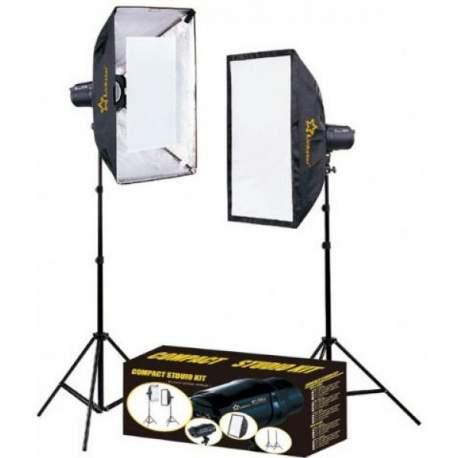 Studijas zibspuldžu komplekti - Linkstar studijas gaismu komplekts MTK-2250D 560115 - perc šodien veikalā un ar piegādi