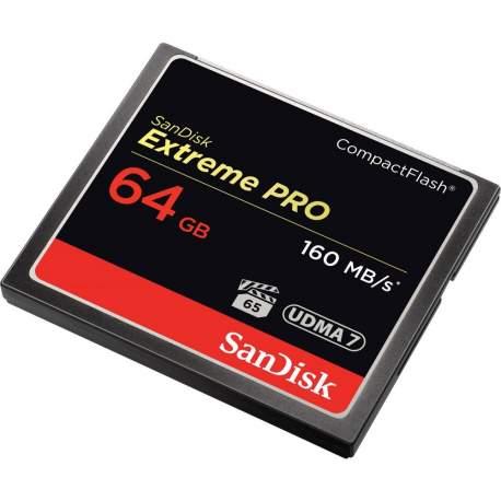 Atmiņas kartes - SanDisk Extreme PRO CompactFlash Card 160MB/s 64GB SDCFXPS-064G-X46 - perc šodien veikalā un ar piegādi