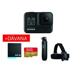 Action cameras - GoPro HERO8 Black Holiday Bundle action kamera kit with accessories - buy today in store and with delivery