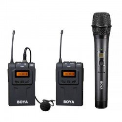 Microphones - Boya UHF Lavalier Microphone Wireless BY-WM6 + hanheld - buy today in store and with delivery