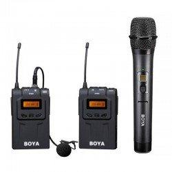 Mikrofoni - Boya UHF Lavalier bezvadu radio mikrofons BY-WM6 ar rokas mikrofonu - ātri pasūtīt no ražotāja