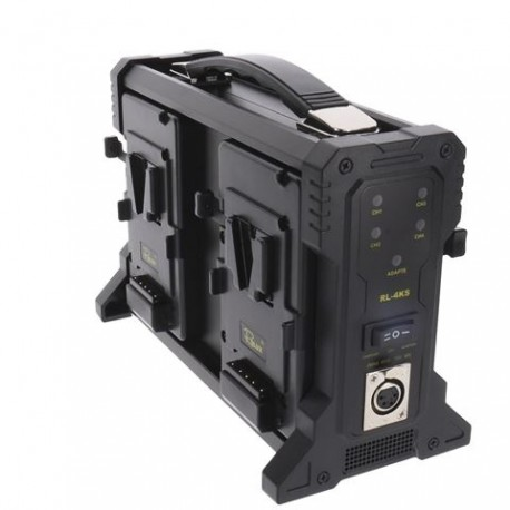 Batteries and chargers - Rolux Battery Charger RL-4KS for 4 x V-Mount Battery - quick order from manufacturer