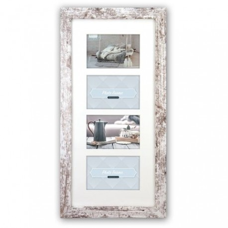 Photography Gift - Zep Photo Frame V24106 Nelson 6 4Q White Wash for 4 Photos - quick order from manufacturer