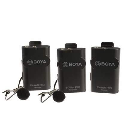 Mikrofoni - Boya 2.4 GHz Dual Lavalier Microphone Wireless BY-WM4 Pro-K2 - perc šodien veikalā un ar piegādi