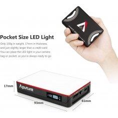 Aputure Amaran AL-MC RGBWW Mini On Camera LED light 3200K-6500K CRI TLCI 96+ HSI Mode Magnetic APP