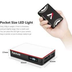 LED uz kameras - Aputure Amaran AL-MC RGBWW Mini On Camera LED light 3200K-6500K CRI TLCI 96+ - perc šodien veikalā un ar piegādi