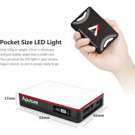 LED Lampas kamerai - Aputure Amaran AL-MC RGBWW Mini On Camera LED light 3200K-6500K CRI TLCI 96+ HSI Mode Magnetic APP - perc šodien veikalā un ar piegādi
