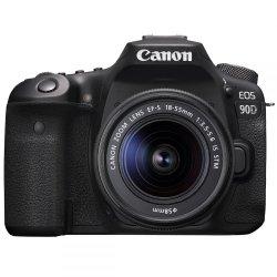 Spoguļkameras - Canon EOS 90D + EF-S 18-55mm IS STM Lens - ātri pasūtīt no ražotāja