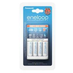 Batteries and chargers - Eneloop Smart & Quick Charger Panasonic K-KJ55MCC40E 1.5 hr + 4xAA - buy today in store and with delivery