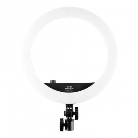 Gredzenveida LED lampas - YongNuo YN408 LED gredzenveida dimējama bi-color lampa ar viedtālruņa turētāju - perc šodien veikalā un ar piegādi
