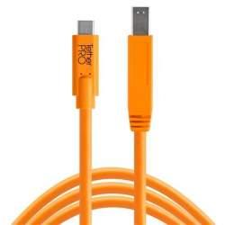 Kabeļi - Tether Tools TETHER PRO USB-C TO MALE B 4.6 M ORANGE - perc šodien veikalā un ar piegādi