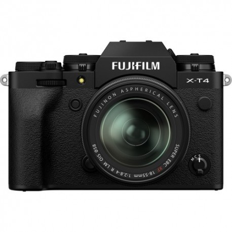 Bezspoguļa kameras - Fujifilm X-T4 XF18-55mm Kit black hybrid APS-C mirrorless camera X-Trans CMOS IBIS 4 X-Processor - perc šodien veikalā un ar piegādi