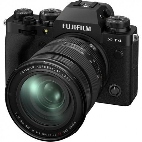 Bezspoguļa kameras - Fujifilm X-T4 XF16-80mm Kit Black hybrid APS-C mirrorless camera X-Trans CMOS - perc šodien veikalā un ar piegādi