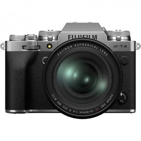 Bezspoguļa kameras - Fujifilm X-T4 XF16-80mm Kit silver hybrid APS-C mirrorless camera X-Trans CMOS IBIS 4 X-Processor - ātri pasūtīt no ražotāja