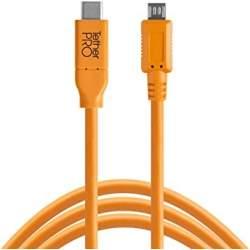 Kabeļi - Tether Tools TetherPro USB-C to 2.0 Micro-B 5-Pin 4.6m cable - perc šodien veikalā un ar piegādi