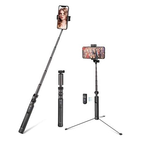 Viedtālruņiem - Selfie stick tripod Bluetooth BlitzWolf BW-BS8L 160cm - perc šodien veikalā un ar piegādi