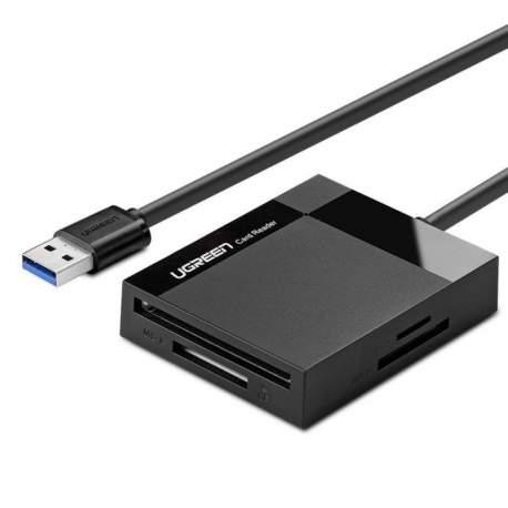 Atmiņas kartes - Card Reader 4 in 1 USB 3.0 UGREEN 1m 30231 - perc šodien veikalā un ar piegādi