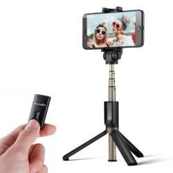 Viedtālruņu statīvi - Selfie Stick tripod 3in1 BlitzWolf BW-BS3 black - perc šodien veikalā un ar piegādi