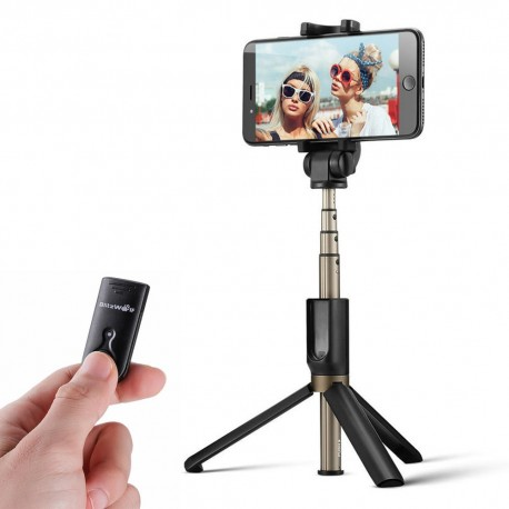 Mobile Phones Tripods - Selfie Stick tripod 3in1 BlitzWolf BW-BS3 black - buy today in store and with delivery