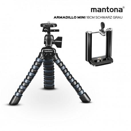 Viedtālruņu statīvi - Walimex Mantona Armadillo Mini schwarz grau Mini & Tischstativ 18 cm - perc šodien veikalā un ar piegādi