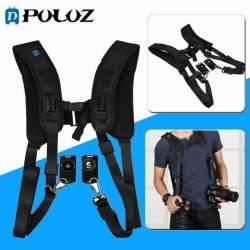 Siksniņas un turētāji - Puluz double camera harnes PU6002 - perc šodien veikalā un ar piegādi