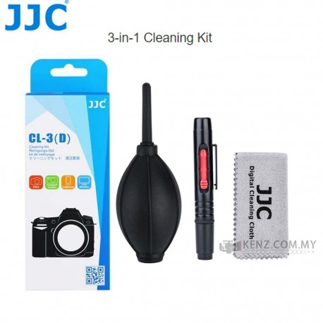 Discontinued - JJC CL-3 cleaning kit 3 in1 lenspen blower microfiber