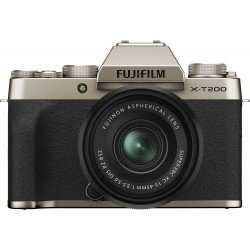 Bezspoguļa kameras - Fujifilm X-T200 + 15-45mm Kit, zeltīts - ātri pasūtīt no ražotāja