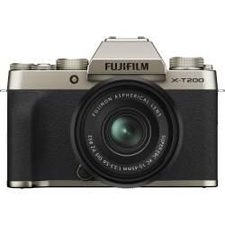 Bezspoguļa kameras - Fujifilm X-T200 + 15-45mm Kit, zeltīts 16646430 - perc šodien veikalā un ar piegādi