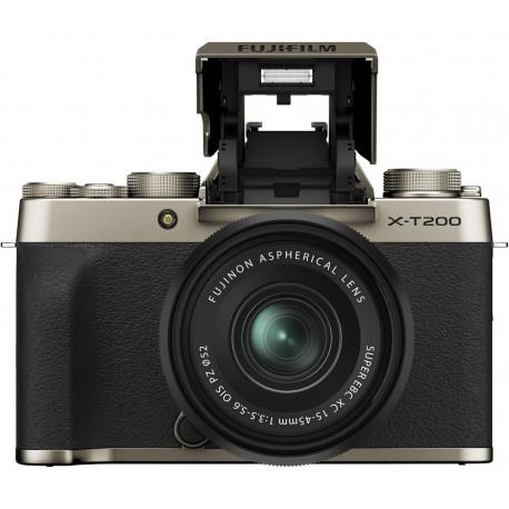 Bezspoguļa kameras - Fujifilm X-T200 + 15-45mm Kit, zeltīts 16646430 - ātri pasūtīt no ražotāja