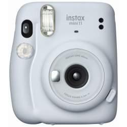 Фотоаппараты моментальной печати - Fujifilm instax Mini 11, ice white +instax mini glossy (10pl) - купить сегодня в магазине и с доставкой