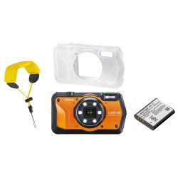 Compact cameras - Ricoh WG-6 Kit, orange (extra battery + protector jacket + floating strap) - quick order from manufacturer