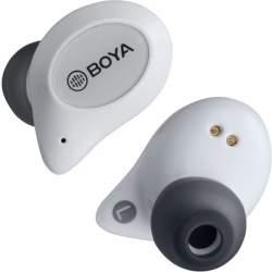 Наушники - Boya беспроводные наушники + микрофон True Wireless BY-AP1, белая BY-AP1-W - купить сегодня в магазине и с доставкой
