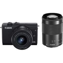 Bezspoguļa kameras - Canon EOS M200 + EF-M 15-45mm + 55-200mm IS STM, melns 3699C018 - ātri pasūtīt no ražotāja