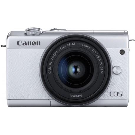 Bezspoguļa kameras - Canon EOS M200 + EF-M 15-45mm IS STM, balts 3700C010 - ātri pasūtīt no ražotāja