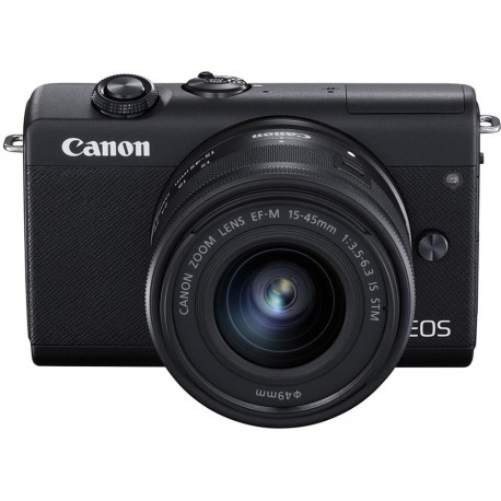 Bezspoguļa kameras - Canon EOS M200 + EF-M 15-45mm IS STM, melns 3699C010 - ātri pasūtīt no ražotāja