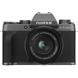 Bezspoguļa kameras - Fujifilm X-T200 + 15-45 мм Kit, темное серебро 16645955 - быстрый заказ от производителя