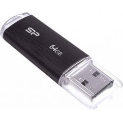USB флшеки - Silicon Power flash drive 64GB Ultima U02, black SP064GBUF2U02V1K - быстрый заказ от производителя