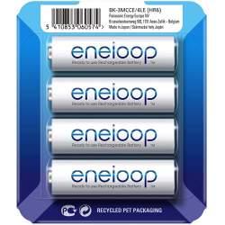 Baterijas, akumulatori un lādētāji - Panasonic ENELOOP BK-3MCCE/4LE Rechargeablebatteries 1900 mAh, 2100 (4xAA) sliding pack - perc šodien veikalā un ar piegādi